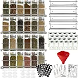 4 Spice Racks with 24 Glass Spice Jar & 2 Types of Printed Spice Labels by Talented Kitchen....
