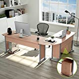 83 Inches Tribesigns Modern L-Shaped Desk with Return and Mobile File Cabinet, Corner Computer Desk...