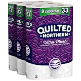 Quilted Northern Ultra Plush Toilet Paper, 24 Supreme Rolls, 24 = 99 Regular Rolls, 3 Ply Bath...