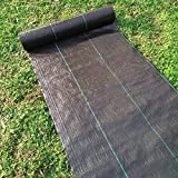 Agfabric 5x300ft Landscape Ground Cover Heavy PP Woven Weed Barrier,Soil Erosion Control and UV...