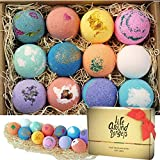 LifeAround2Angels Bath Bombs Gift Set 12 USA made Fizzies, Shea & Coco Butter Dry Skin Moisturize,...