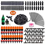 HANSILK 82ft DIY Adjustable Automatic Micro Irrigation System Kit Saving Water and Time 1/4-inch...
