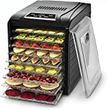 Gourmia GFD1950 Premium Countertop Food Dehydrator 9 Drying Shelves Digital Thermostat Preset...
