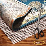 Area Rug Grippers Non Slip - Rug Pad 2x10 Runner Rug Pad for Hardwood Floor 2x10 Rug Pad Nonslip for...