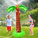 Magical Lighting Inflatable Palm Tree Sprinkler, 61' Splash and Sprinkle Water Play Toy for Kids...