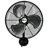 Hurricane Wall Mount Fan - 20 Inch | Pro Series | High Velocity | Heavy Duty Metal Wall Mount Fan...
