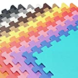 We Sell Mats Foam Interlocking Anti-Fatigue Exercise Gym Floor Square Trade Show Tiles (Blue, 80...