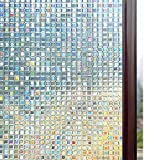 Rabbitgoo 3D Window Films Privacy Film Static Decorative Film Non-Adhesive Heat Control Anti UV...