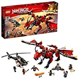 LEGO NINJAGO Masters of Spinjitzu: Firstbourne 70653 Ninja Toy Building Kit with Red Dragon Figure,...