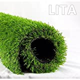 LITA 7ft x 13ft Realistic Deluxe Artificial Grass Synthetic Thick Lawn Turf Carpet Perfect for...