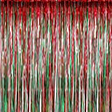 Sumind 4 Pack Foil Curtains Metallic Fringe Curtains Shimmer Curtain for Birthday Wedding Party...