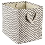 DII Woven Paper Storage Basket or Bin, Collapsible & Convenient Home Organization Solution for...
