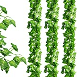 JPSOR 24 Pack (79 inch Each) Fake Ivy Artificial Ivy Leaves Greenery Garlands Hanging for Wedding...