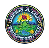Enjoy It Peace Frogs Life's a Trip Peace Frogs Car Sticker, Outdoor Rated Vinyl Sticker Decal for...