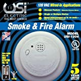 Universal Security Instruments 1204 Wire-In Smoke Alarm with Battery Backup (6 Pack)