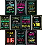 Motivational Posters for Classroom & Office Decorations | Inspirational Quote Wall Art for Teachers,...