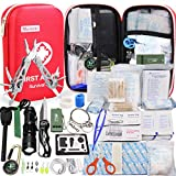 Monoki First Aid Kit Survival Kit, 241Pcs Upgraded Outdoor Emergency Survival Kit Gear - Medical...