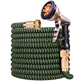 [Upgraded 2019] Garden Hose 50 Ft | Expandable Garden Water Hose with 4-Layers Latex | Superior...