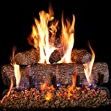 Peterson Real Fyre 24-inch Live Oak Log Set With Vented Burner and Gas Connection Kit. Match Lit...