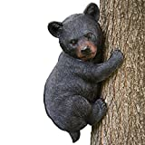 Bits and Pieces - Baby Bear Up a Tree Garden Peeker - Tree Hugger - Outdoor Tree Sculpture - Gifts...