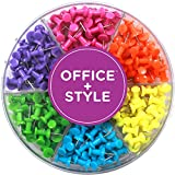 Decorative Multi-Colored Push Pins for Home & Office, Six Colors for Different Projects in Reusable...