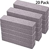 20 Pack Pumice Stones for Cleaning - Pumice Scouring Pad, Grey Pumice Stick Cleaner for Removing...