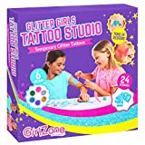 Temporary Glitter Tattoos Kit Including 33 Pieces, Best Birthday Present Idea for Girls of All Ages