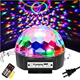 SOLMORE 9 Color LED Disco Ball Party Lights Strobe Light 18W Sound Activated DJ Lights Stage Lights...