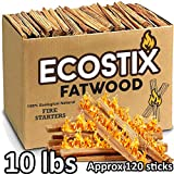 EasyGoProducts Approx. 120 Eco-Stix Fatwood Starter Kindling Firewood Sticks Wood Stoves Camping...