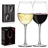 Crystal Wine Glasses - Hand Blown Red or White Wine Glasses...