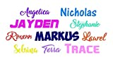 Name Decal. Choose the color and font. 1 inch tall. Perfect...