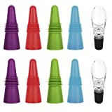 Wine Bottle Stoppers, Set of 8 Wine Stoppers with 2 Wine...