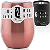 BAR NONE Wumbler | Stainless Steel Wine Tumbler with Lid...