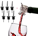 7 Pack Stainless Steel Classic Bottle Pourers Plus Wine...