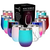 CHILLOUT LIFE 12 oz Stainless Steel Tumbler with Lid - Wine...