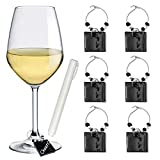 Wine Glass Charms Drink Identifier for Party - Personalize...