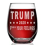 Shop4Ever Trump 2020 F Your Feelings Laser Engraved Stemless...