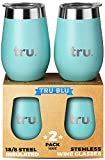 Outdoor Vacuum Insulated Wine Tumblers with Lids (Set of 2),...