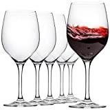 FAWLES Universal Crystal Wine Glasses Set of 6 - 17 Ounce...
