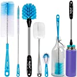 Holikme 5 Pack Bottle Brush Cleaning Set,Long Handle...