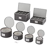 Woffit Fine China Storage Containers - Quilted Dinnerware,...