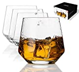 JBHO Durability Whiskey Glasses - Set of 4-12.85 Ounce Rock...