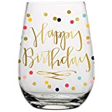 Creative Brands Slant Collections Stemless Wine Glass,...