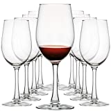 12 Ounce Wine Glasses Party Set for Red and White Wines,...