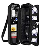 ALLCAMP Wine tote Bag with Cooler Compartment,Picnic Set...