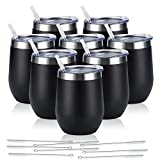 8 Pack 12Oz Stainless Steel Wine Tumblers, Insulated Wine...