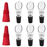 6 pcs Wine Aerators Pourers with 2 Wine Stoppers, FineGood...