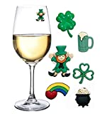 St Patricks Day Magnetic Drink Markers and Wine Charms for...