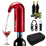 RICANK Electric Wine Aerator Pourer, Portable One-Touch Wine...