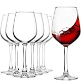 Red Wine Glasses, Set of 8, 12-Ounce Party Drinking...